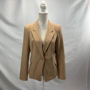 Tan One Button Blazer New York & Company